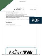 Latihan Soal MTCRE - 1