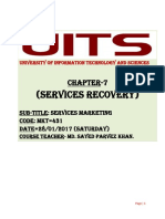 Service Recovery( Chapter -7)