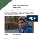 Emilio Estevez Net Worth | Who was Married to Emilio Estevez