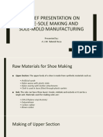 A Brief Presentation on Shoe-sole Making