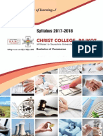BCom Syllabus 2017-18 By Christ College - Rajkot