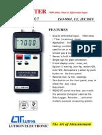 PM 9107 Manometer