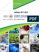 BSc Bioinformatics Syllabus 2017-18 by Christ College - Rajkot