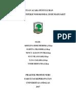 SAP Infeksi Nosokomial Di Rumah Sakit