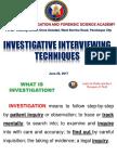 Investigative Interviewing Techniques