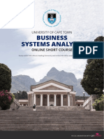 Uct Business Systems Analysis Course Information Pack