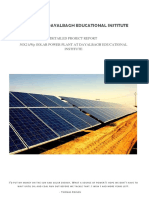 DEI - Complete DPR - 50 KWp x 2 - Rooftop Solar Plant