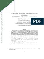 Making the Relativistic Dynamics Equation