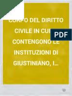 Corpo Del Diritto Civile (Venezia 1843)