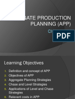 CHAPTER 8 - Aggregate Production Planning