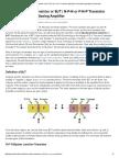 1.Bipolar Junction Transistor or BJT _ N-P-N or P-N-P Transistor Application Theory Biasing Amplifier _