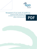 EPA Management of Low Levels of Landfill Gas
