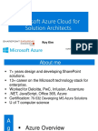 Microsoft Azure Cloud for Solution Architects