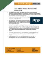 Standard & Poor's Indices Versus Active Funds Scorecard