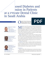 Undiagnosed Diabetes and Hypertension in Patients at a Private Dental Clinic in Saudi Arabia