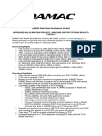 DAMAC Announces 2013 Results RNS Announcement 1