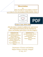 Dissertation on Measuring Patient's Satisfaction [a Study on Terre Des Hommes Satellite Clinic]