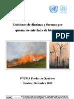 Emisiones de Dioxinas y Furanos por quema Incontrolada de Biomasa