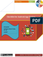 Checklist for Andriod App Testing.