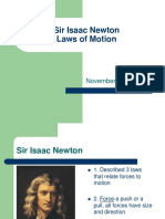 Laws of Motion - Newton