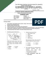 Soal UAS Geografi Semester I