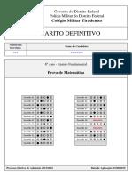 Processo Seletivo 2015_2016 - Gabaritos