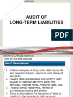 Audit of Long-term Liabilities