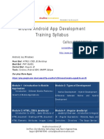 Android Mobile  APP Training Kumbakonam Thanjavur Trichy Syllabus
