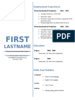 Design Resume Sample 785