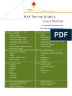 Java Training Kumbakonam Thanjavur Trichy Syllabus