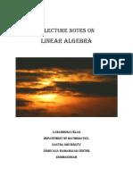 Linear Algebra Lecture Notes- Shanmugavelan