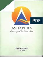 Asha Annual Report - 2015-2016