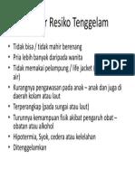 Faktor Resiko Tenggelam