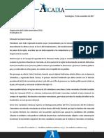 Arcadia - Denuncia Al Sec Gral de La OEA Sobre Injerencia Gob. Vzlano en Elecciones Presidenciales en Honduras 2017