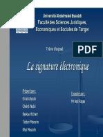 Signature Electronique*