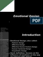 PAR Presentation Emotional Design 2005