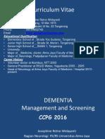 1. Dr. RR Josephine - Dementia Diagnosis n Screening Ccpg 2016