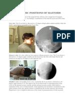 Radiographic Positions of Mastoids