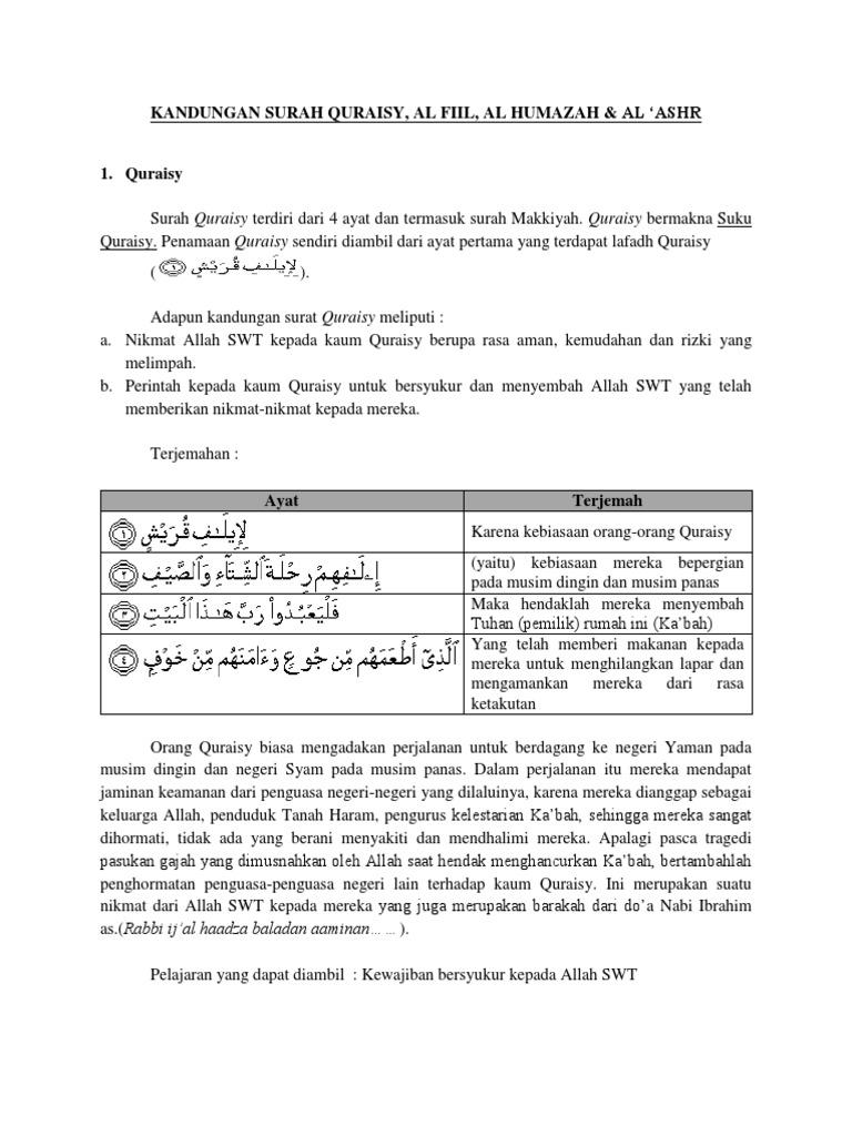 Kandungan Surah Quraisy