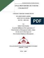 27867083 Summer Report on Import Export Procedure