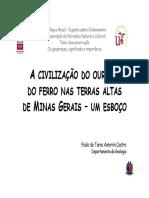 1 a Civilizacao Do Ouro e Do Ferro Nas Terras Altas de Minas Gerais