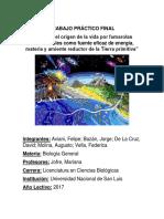 Modelo Del Origen de La Vida Por Fumarolas Hidrotermales Como Fuente Eficaz de Energía