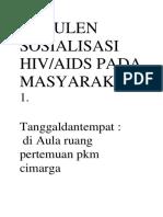 Notulen Sosialisasi Hiv