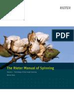 The Rieter Manual of Spinning Vol. 1 1921-V4 83511 Original English 83511