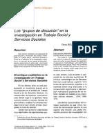 Roldan García 98 Los Grupos de Discusión en La Investigación en Trabajo Social y Servicios Sociales CUADER de TRABAJO SOCIAL Nº 11
