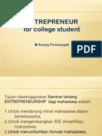 Entrepreneurship Pak Anang