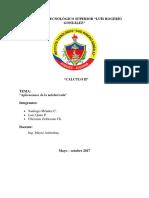 Informe Sobre Aplicación de Antiderivadas