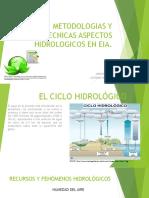 Metodologias y Tecnicas Aspectos Hidrologicos en Eia