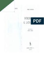 Nociones generales sobre el latín vulgar de Vaananen en su Introduccion al latín vulgar