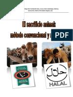 El Sacrificio Animal Metodo Convencional y Ritual Halal